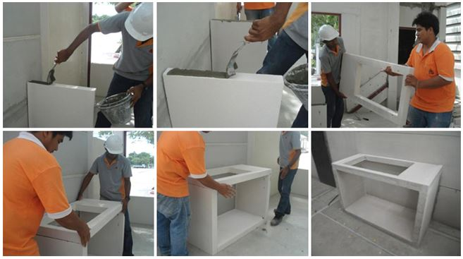 q con counter installation