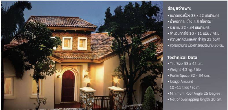 granada roof tile technical information
