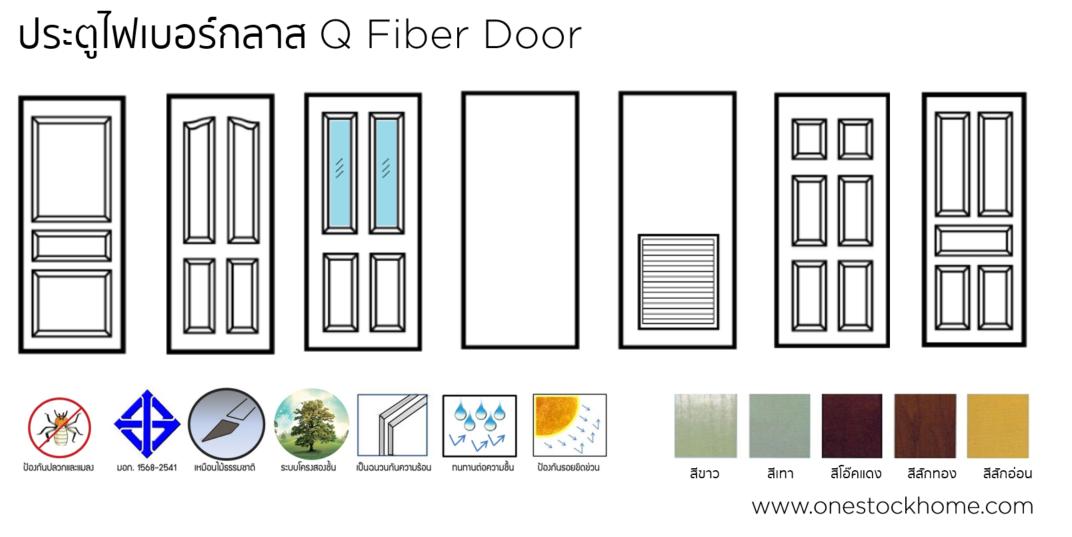 q,fiber,door,ประตูไฟเบอร์กลาส,ประตู,ไฟเบ้อกลาส