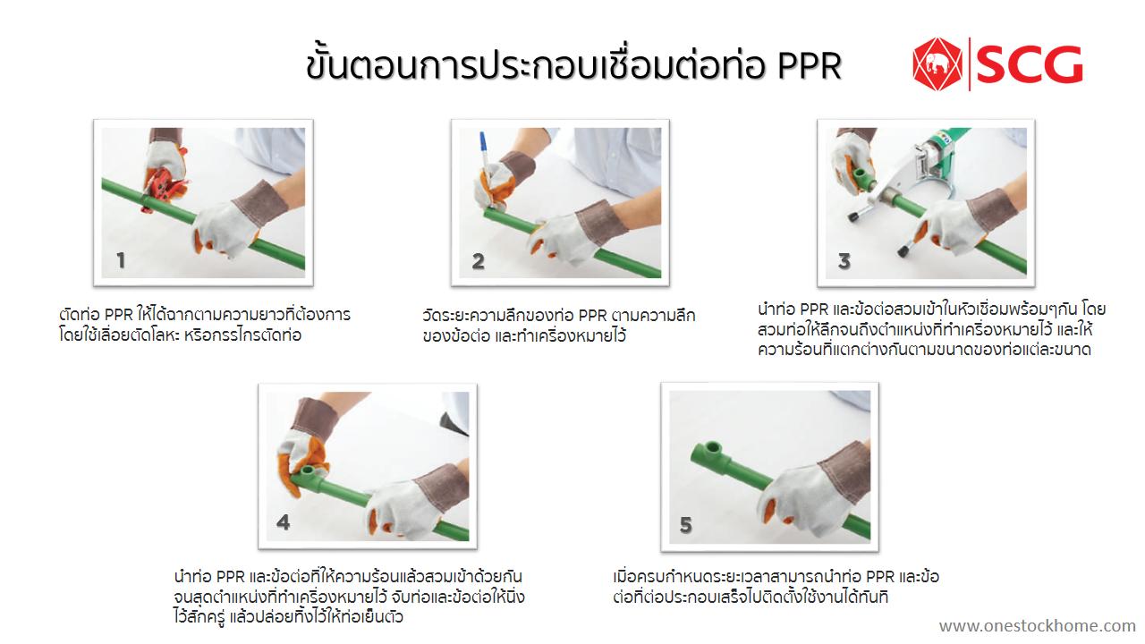 ขั้นตอนการเชื่อมท่อ PPR